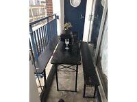 Vintage trestle table pub picnic bench