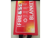 Fire blanket by fire chief