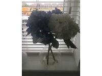BHS Artificial Hydrangea Flower Vase