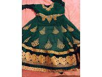 Emraled green dress