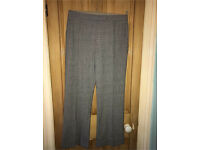 J taylor check trousers