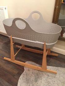MOBA Rocking Moses Basket Cot Cradle