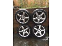 Mercedes R18 alloy wheels