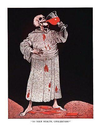 Raemaekers' Cartoon Political Cartoons from World War One 8 books WW1 DVD
