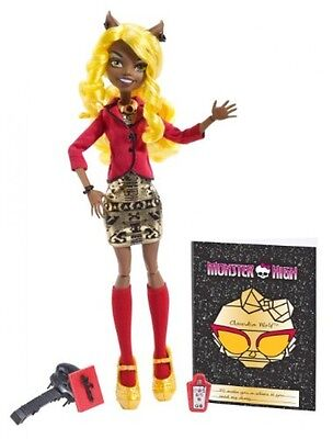 Monster High Frights, Camera, Action Clawdia Wolf Doll, New, Free Shipping