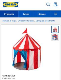 Ikea children indoor play tent  sc 1 st  Gumtree & Cirkustalt Ikea circus tent | Toys - Indoor | Gumtree Australia ...