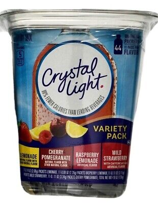 - Crystal Light Variety Lemonade Raspberry Strawberry Cherry, 44 Packets Each Box
