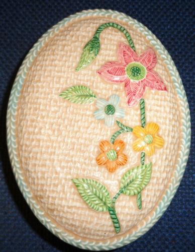 Sylva Ceramics Hand-Painted Textured Flower Trinket/Treasure Box - #5584 England