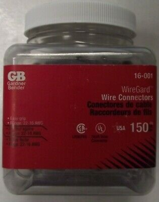 Gardner Bender 16-001 Wire Gard Gray Wire Connectors 150-pack Usa