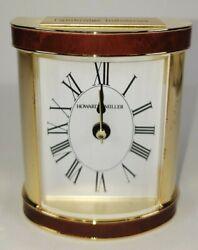 Vintage Howard Miller Carrara Encore Alarm Clock Tabletop Desk Mantel Shelf NOS