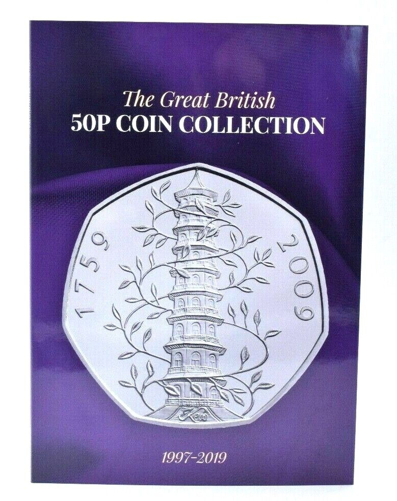NEW 2019 50p Coin Collector Album Beatrix Potter Kew Gruffalo Hawking Snowman