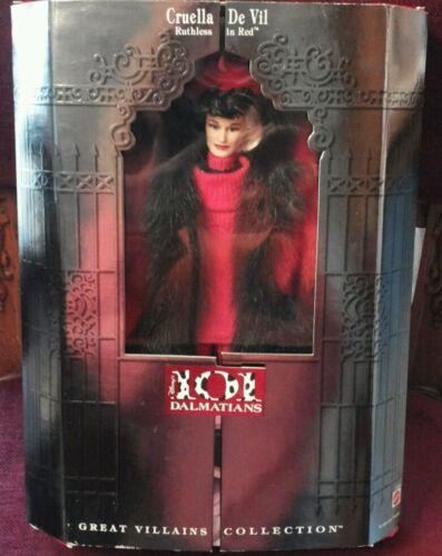 Barbie Mattel 101 Dalmatiner Cruella de Vil 1997 Great Villains Collection