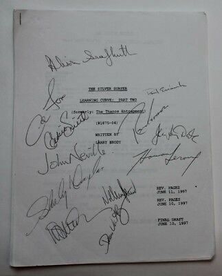 """SILVER SURFER / 1997 TV Script, REAL AUTOGRAPHS BY CAST """"Learning Curve: Part 2"""""""