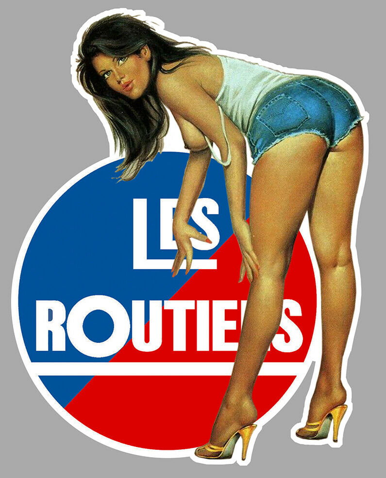 LES ROUTIERS STICKER PINUP CAMION TRUCK SEXY GIRL ROAD PIN UP AUTOCOLLANT