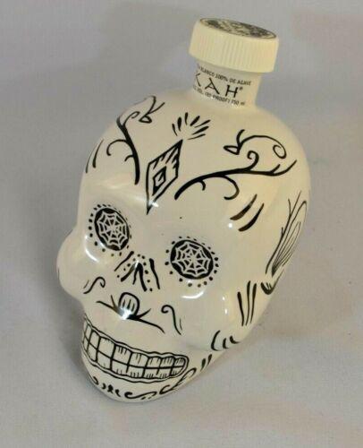 KahTequila Skull Bottle (EMPTY) Day of the Dead Blanco