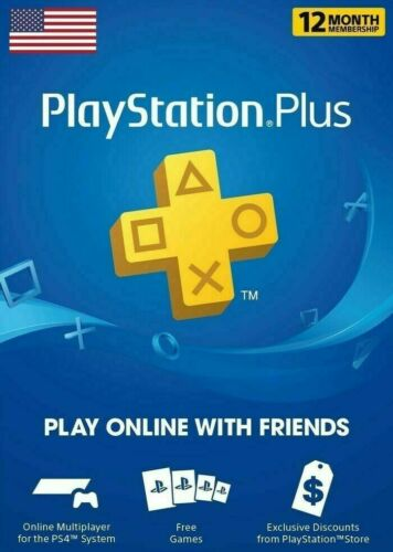 Sony PlayStation Plus 12-Month / 1-year Membership - USA DIGITAL CODE - PS5, PS4