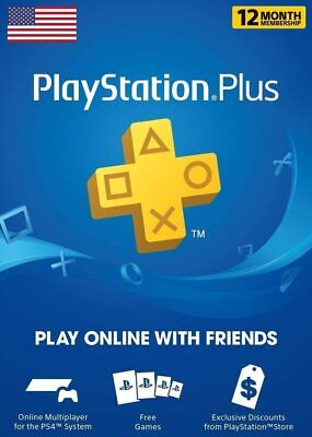 Sony PlayStation Plus PS 12 Month / 1 Year Membership Subscription – USA