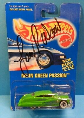 Hot Wheels Mean Green Passion #263 Signed by Larry Wood