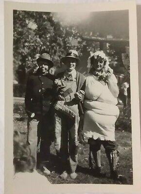 Vintage 1947 Photo of Funny Girls Dressed in Crazy Halloween Costumes  - Funny Halloween Costumes Photos