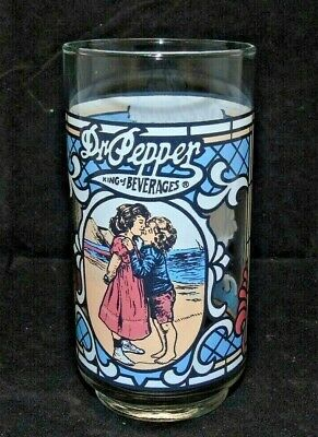 """Vintage Style ~ Dr Pepper """"King of Beverages"""" CHERUB'S KISS - Collector Glass"""