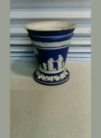 Wedgewood Portland Blue Jasperware Vase