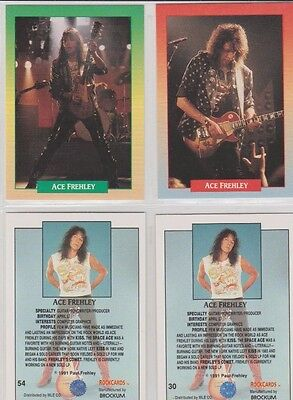 ACE FREHLEY, KISS GUITARIST BROCKUM ROCK CARD