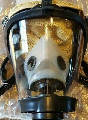 Sperian 2020plus Firefighter Scba Mask Clear Nose Cup 5pt Kevlarheadnet Medium
