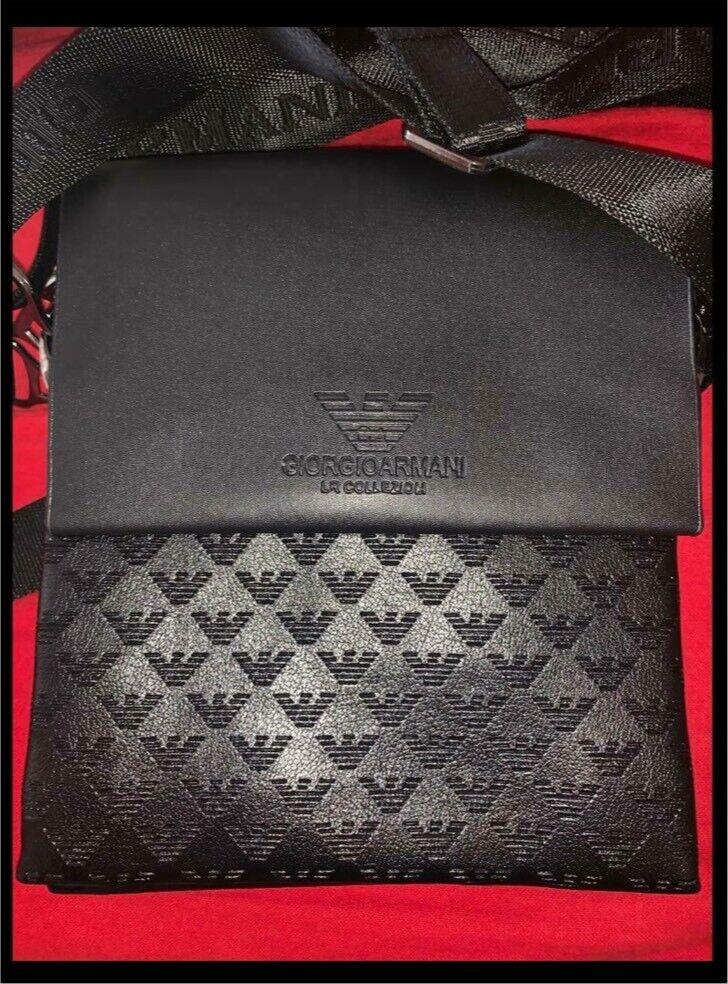 deb5ad9ed9 Giorgio Armani Mens Messenger Man Bag Pouch Crossbody Black | in  Chadderton, Manchester | Gumtree