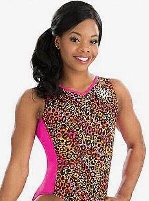 GK ELITE Gabrielle GYMNASTICS Leopard LEOTARD Pink Black Gabby Douglas  Sz: AS for sale  Clementon