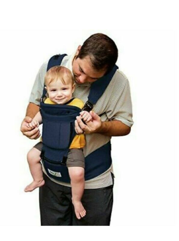 BABY STEPS Ergonomic Baby Carrier with Hip Seat for All Seasons, 6 Position New
