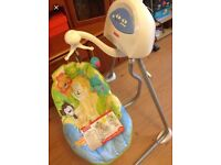 rainforest baby swing