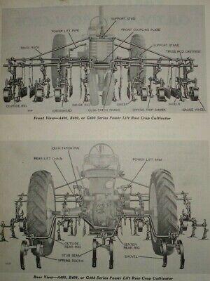 John Deere Abg-400 Series 4-row Cultivator Parts Catalog Manual Book Original