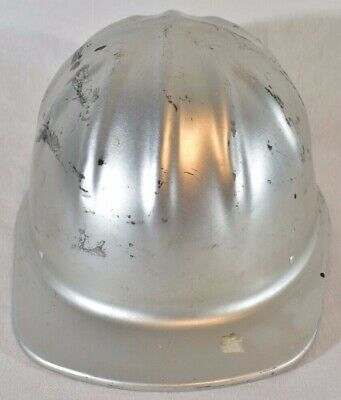 Vintage 1969 Mcdonald T Cap Aluminum Hard Hat Msa New Nos Liner Oilfield Miner