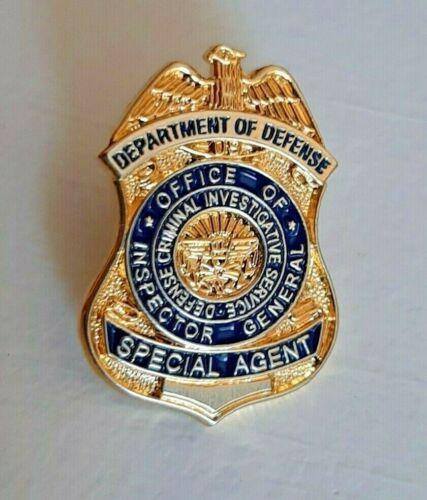 Dept of Defense Special Agent Criminal Shield Lapel Tie Mini Pin Badge