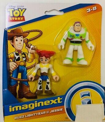 NIB Fisher-price Imaginext Toy Story 4 Buzz Lightyear & Jessie Action Figure Toy