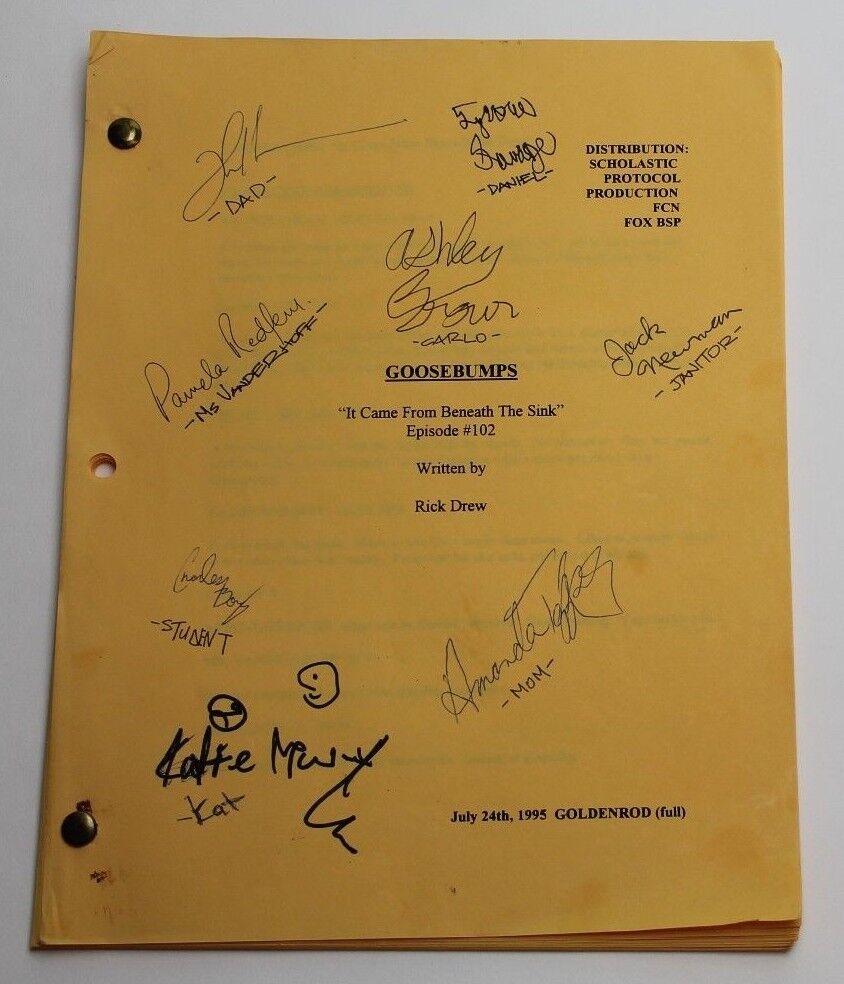 Vialibri Goosebumps 1995 Tv Script Real Autographs By