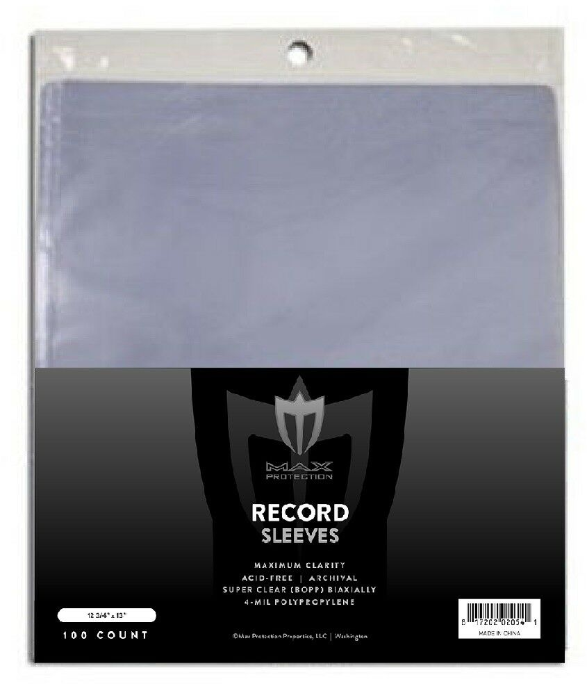 Music Trustful New 33 Rpm Record Sleeves 100 Count Made Of Crystal Clear Polypropylene .