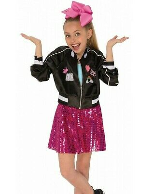 Jojo Siwa Bomber Jacket Girls YouTube Celebrity Music Diva Fancy Dress Costume