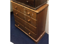 Solid pine 4 drawer chest / shabby chic