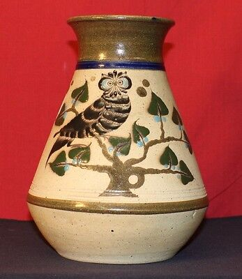 Mexico Pottery Hand Painted Vase Stamped On Bottom
