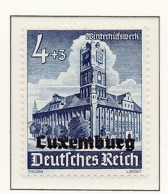 Luxembourg 1941 Early Occupation Issue Fine Mint Hinged 4+3c. Optd 150941