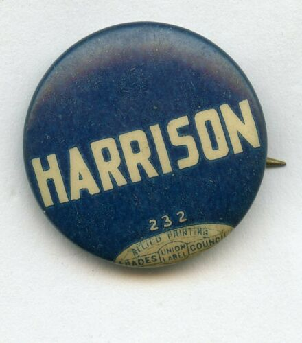 Carter Harrison Chicago Mayor Pin Button - RY864
