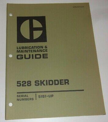 Cat Caterpillar 528 Skidder Lubrication Maintenance Manual Book Sn 51s00001-up
