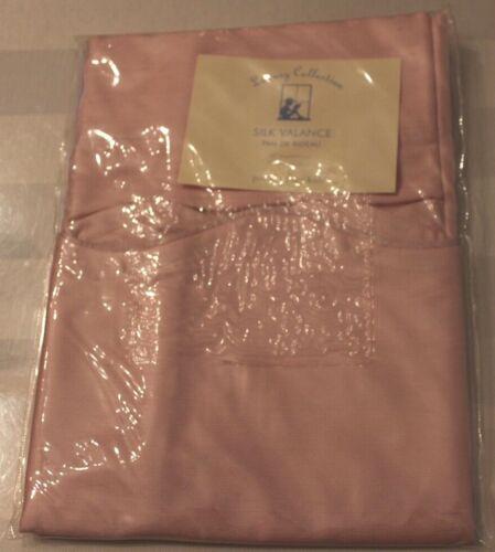 """Pottery Barn Kids Light Pink Silk Pole Pocket Valance, 44X18"""" BRAND NEW!!!"""