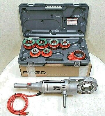 Ridgid 700 Pipe Threader Wset Of 12r Dies New Plastic Case 100 Tested