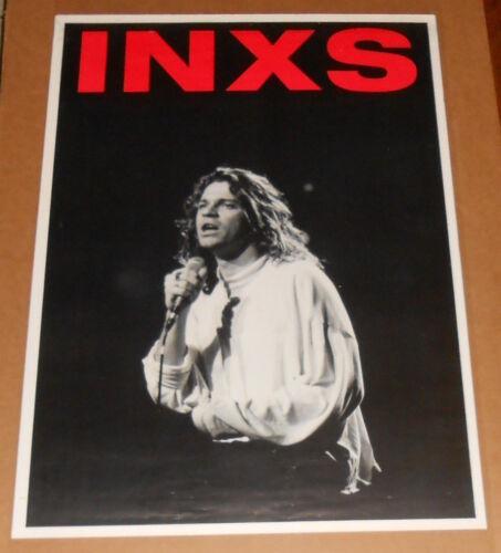 INXS Poster Original Vintage Michael Hutchence 25x35.5 RARE