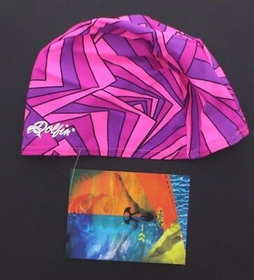 Dolfin Women's Adult Lycra Swim Cap Swimming Hat 9990L Roxy Pink One Size Lycra Swim Cap