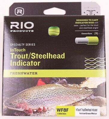 RIO NEW IN TOUCH TROUT//STEELHEAD INDICATOR WF-5-F #5 WT FWD FLOATING FLY LINE