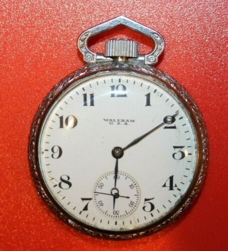 1918 WALTHAM 16S 7J GRADE 610 POCKET WATCH. MODEL 1908 - WORKING
