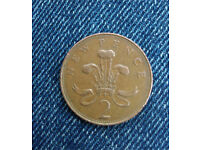 *RARE* New Pence 2 pence coin